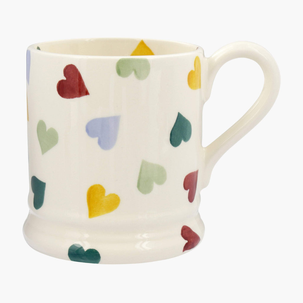 Seconds Polka Hearts 1/2 Pint Mug