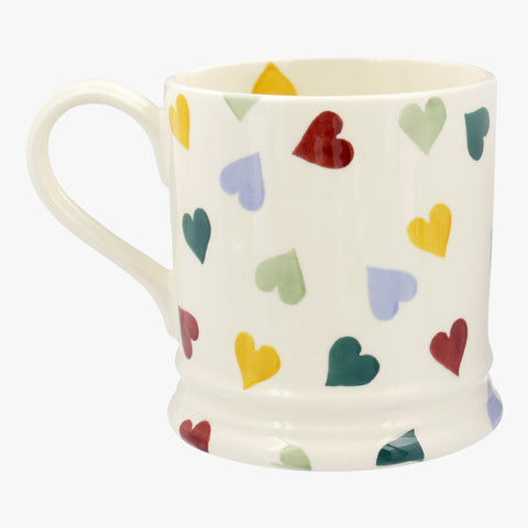 Personalised Polka Hearts 1 Pint Mug