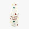 Personalised Polka Hearts Large Milk Bottle