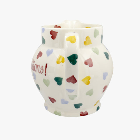 Personalised Polka Heart 3 Pint Jug
