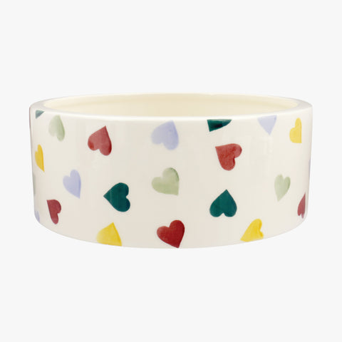 Personalised Polka Hearts Large Pet Bowl