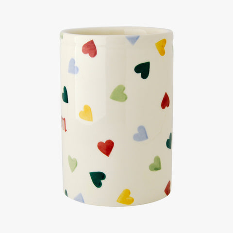 Personalised Polka Hearts Medium Vase