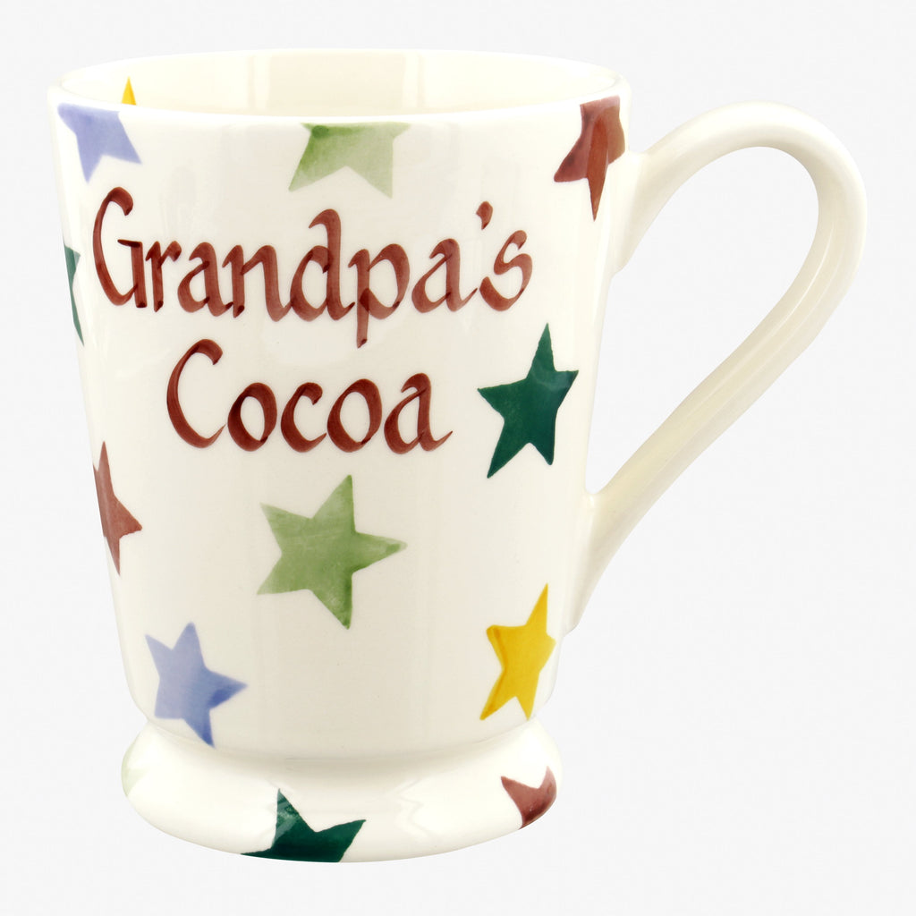 Personalised Polka Star Cocoa Mug