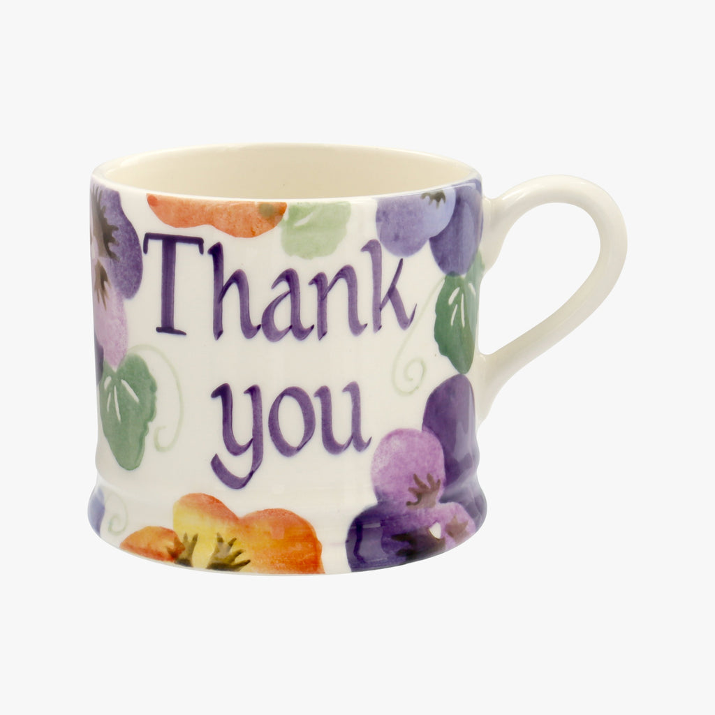 Personalised Purple Pansy Small Mug