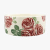 Personalised Pink Roses Large Pet Bowl