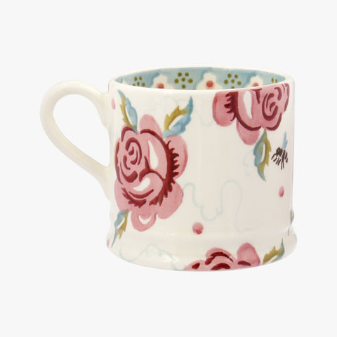 Personalised Rose and Bee Small Mug