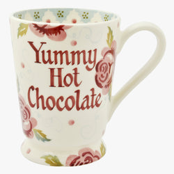 Personalised Rose & Bee Cocoa Mug