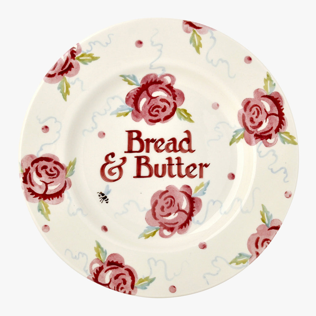 "Personalised Rose and Bee 8 1/2"" Plate"