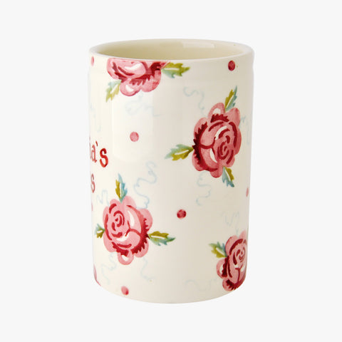 Personalised Rose & Bee Medium Vase