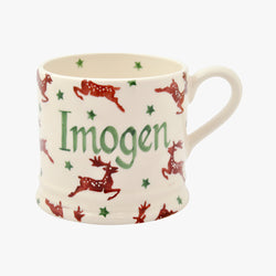 Personalised Reindeer Small Mug