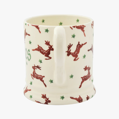 Personalised Reindeer 1/2 Pint Mug
