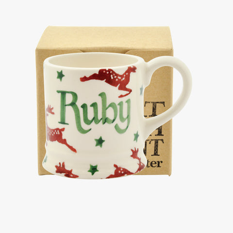 Personalised Reindeer Tiny Mug Decoration