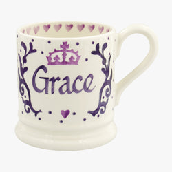 Personalised Royal Baby Purple 1/2 Pint Mug