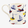 Personalised Scattered Boats 1 Pint Mug