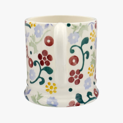Personalised Spring Floral 1/2 Pint Mug