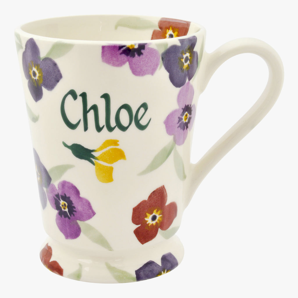 Personalised Wallflower Cocoa Mug
