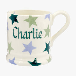 Personalised Winter Star 1/2 Pint Mug