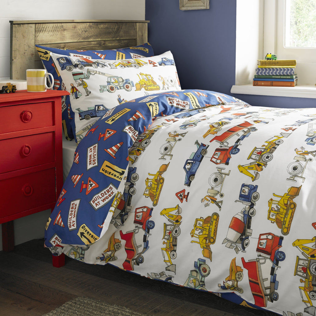 Builders at Work Single Duvet Set
