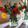 Our much loved glass beer mug also doubles as a quirky flower vase!