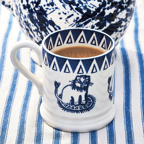 Seconds Mary Fedden Lions 1/2 Pint Mug