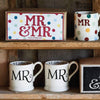Black Toast 'Mr & Mr' Set of 2 1/2 Pint Mugs Boxed