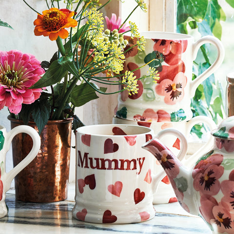 Pink Hearts Mummy 1/2 Pint Mug Boxed