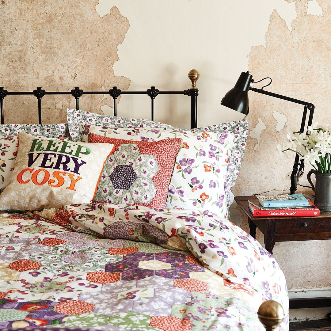 Image of Wallflower Patchwork Oxford Pillow Case