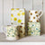 Buttercup Scattered Set of 3 Square Tin Caddies Boxed