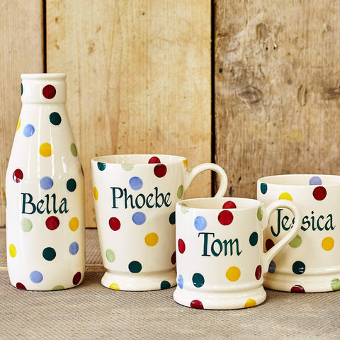 Personalised Polka Dot 1/2 Pint Mug