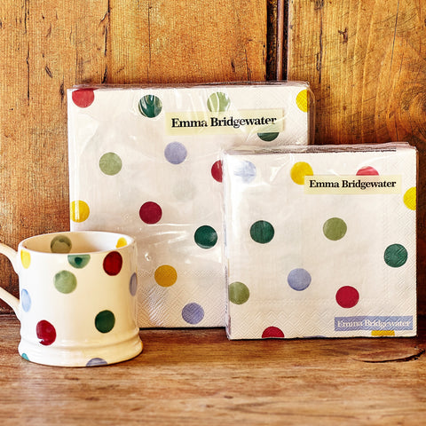 Polka Dot Lunch Napkins