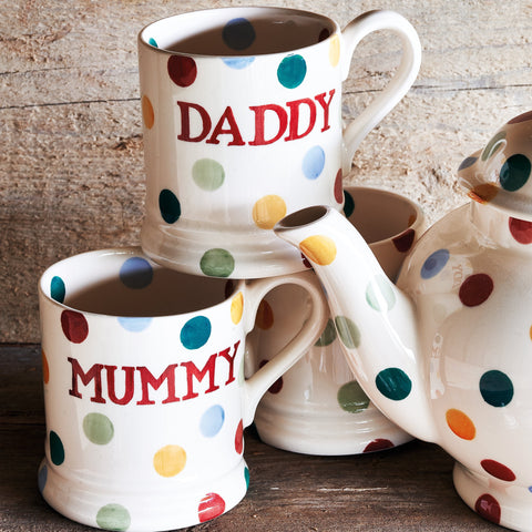 Seconds Polka Dot Daddy 1/2 Pint Mug