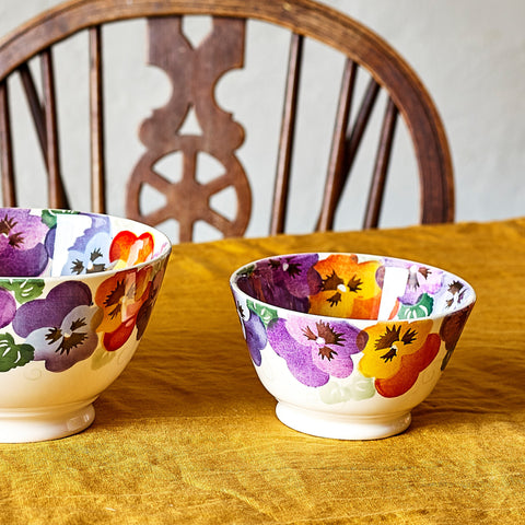Purple Pansy Small Old Bowl