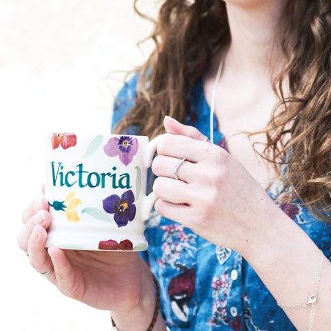 Personalised Wallflower 1/2 Pint Mug