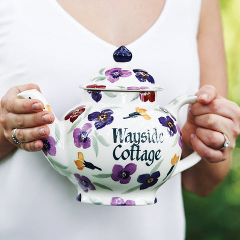 Personalised Wallflower 4 Mug Teapot