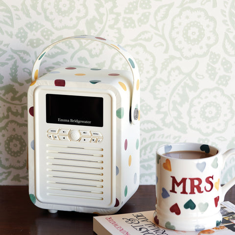 Polka Dot Mini Bluetooth Retro Radio