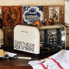 Russell Hobbs & Emma Bridgewater Toast & Marmalade 4 slice Toaster - Classic styling beige and black electric toaster that looks great in farmhouse kitchen settings, part of the Toast & Marmalade breakfast collection. Wide slots for toast, crumpets & buns.