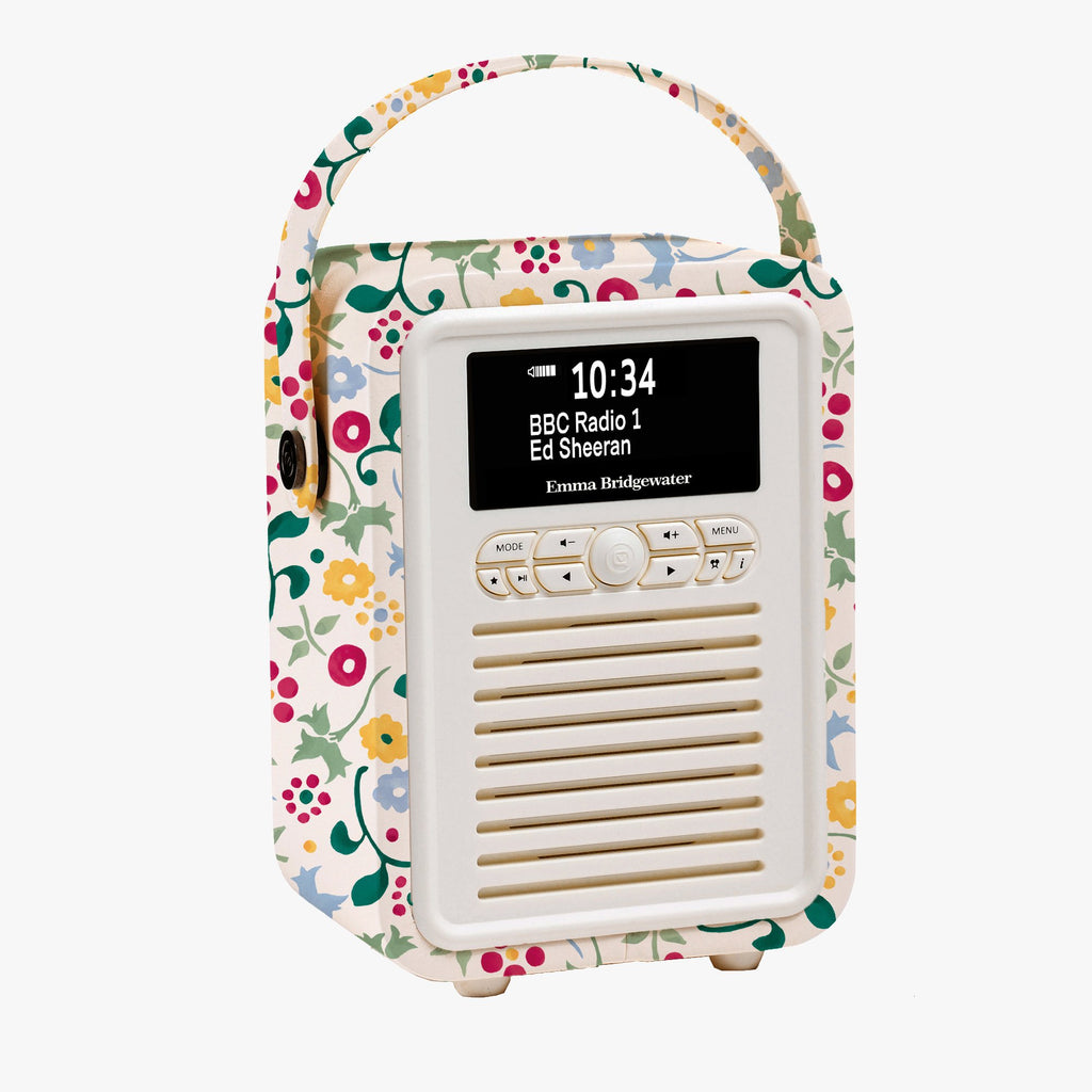 Spring Floral Retro Mini Radio
