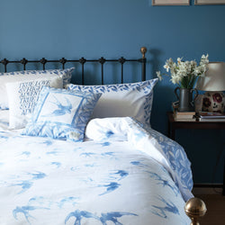 Blue Swallows Single Duvet Set