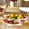 Seconds Bright Dahlias Large Fluted Bowl