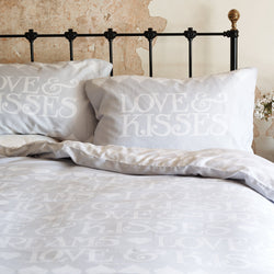 Silver Toast Double Duvet Set