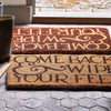 Reversed Black Toast Doormat