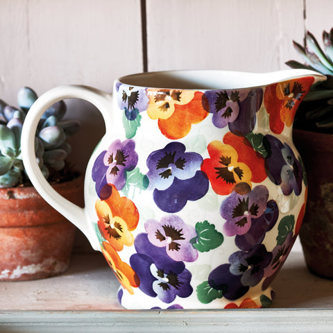Purple Pansy 1 1/2 Pint Jug