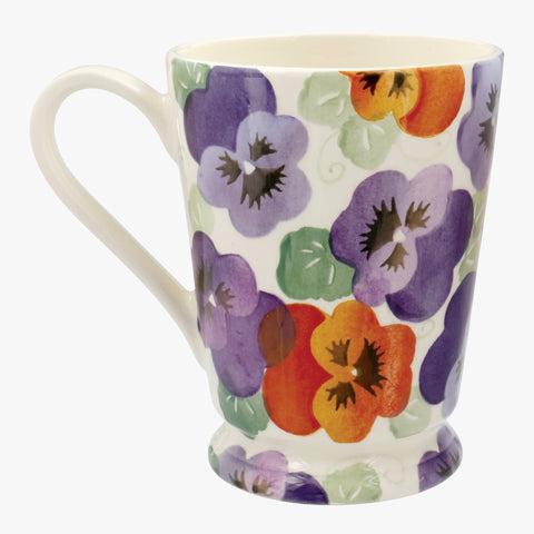 Personalised Purple Pansy Cocoa Mug