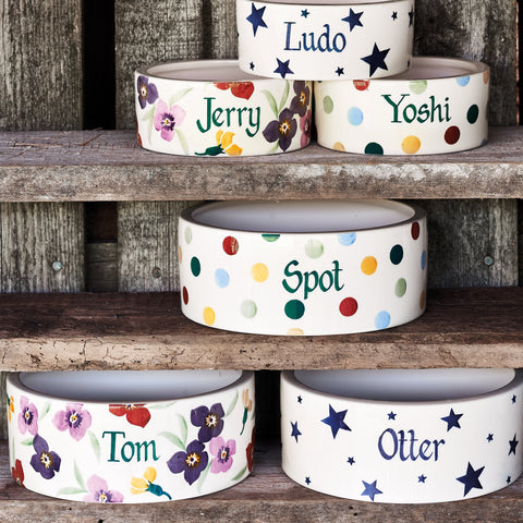 Personalised Wallflower Large Pet Bowl