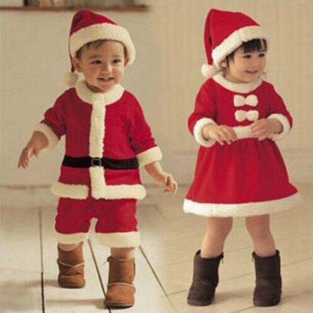 Baby Christmas Santa Dress for Party