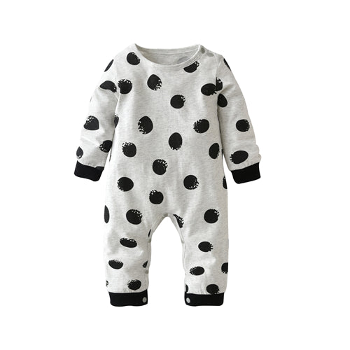 Newborn Toddler Long-sleeved Polka Dot Jumpsuit