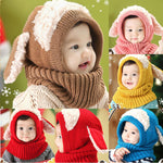 Winter Rabbit Ear Kids Baby Hats Lovely Infant Toddler Girl Boy Beanie Cap