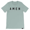 Amen T-Shirt - Heather Dusty Blue - NHiM Apparel