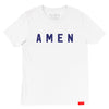 Amen USA T - White - NHiM Apparel