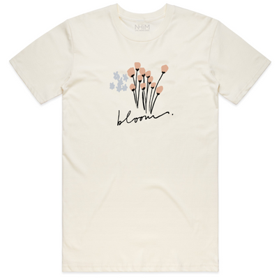 Bloom Tee [Natural] - NHiM Apparel